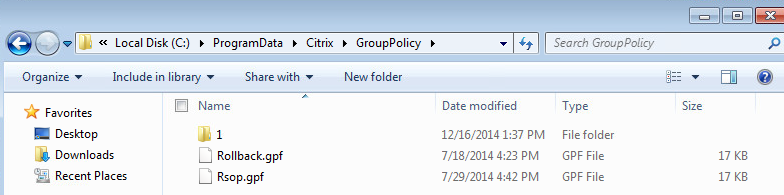 Citrix Group Policy ProgramData